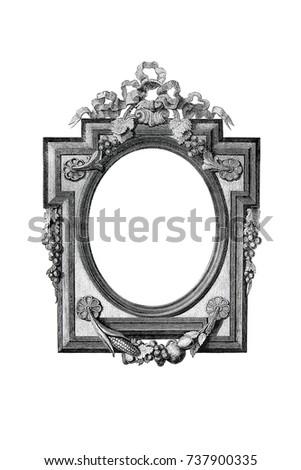 old engraved frame - Engraved Frame
