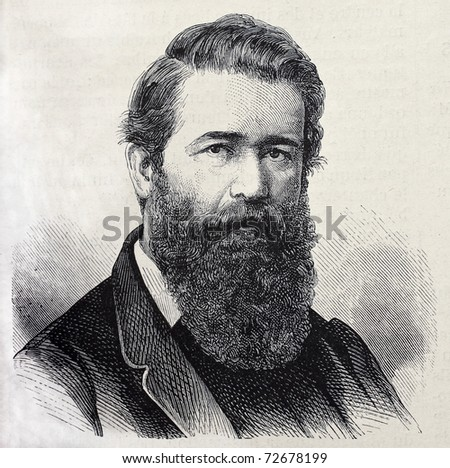 Old engraved portrait of General Antonio Taboada,  Argentinian military and politician. Original, created by Chenu, was published on L'Illustration, Journal Universel, Paris, 1868 - stock photo