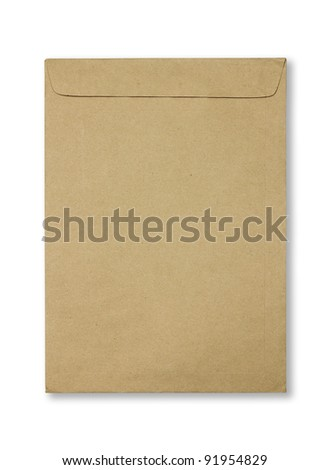 Old Envelope. Isolated - stock photo