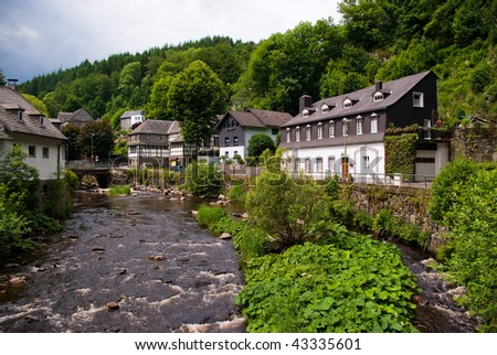 Old European town. Monschau, Germany - stock photo