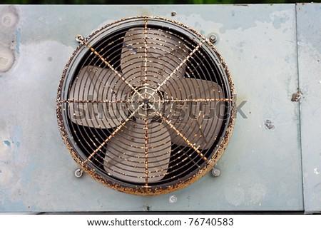 Old exhaust fan - stock photo