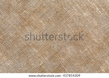 old fabric linen texture for design or background. sackcloth textured. brown sack pattern canvas.
