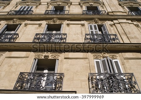 Old Facades in Marseille - stock photo