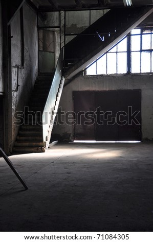 old factory - stock photo