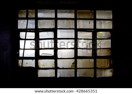 Old factory window