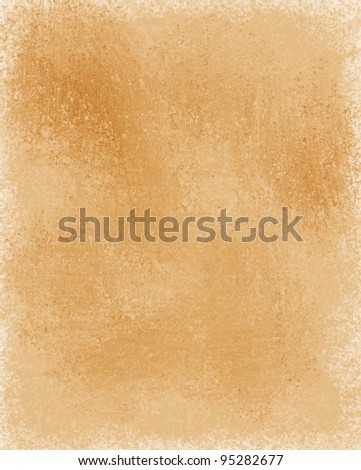 old faded brown paper or parchment illustration with blank copy space - stock photo