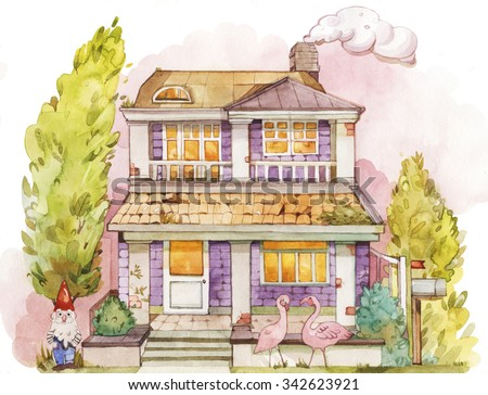 old family house - stock photo
