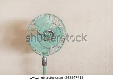 old fan vintage style - stock photo