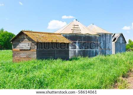 Old farm buildings on the Canadian prairies.