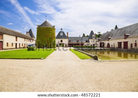 Old farm from Cheverny Chateau, France