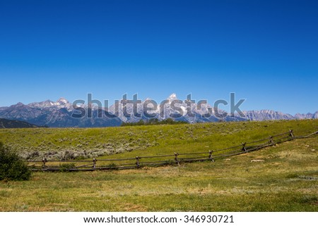 Old Farm House in Rural Landscape - stock photo