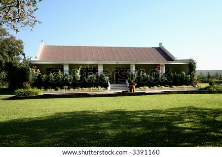 Old farm house viewed front built stock photo 3391160 for Farm style houses south africa