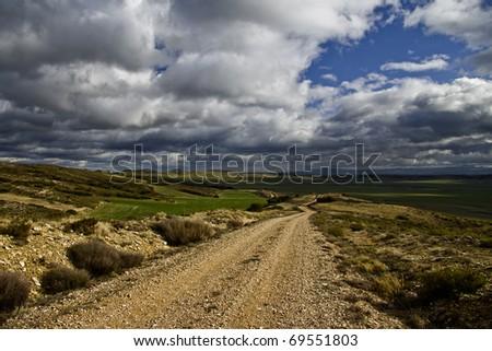 Old Farm Road - stock photo