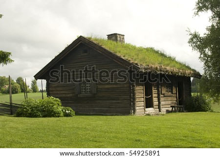 Old farmer's wooden house museum Gamle Hvam. Norway.