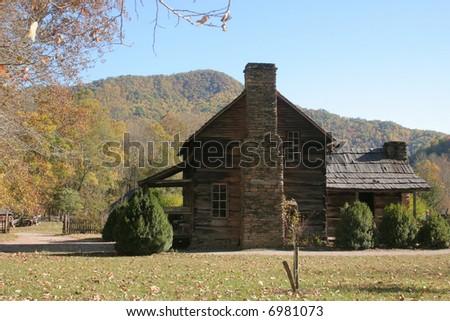 Old farmhouse in North Carolina - stock photo