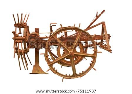 Old farming machine - stock photo