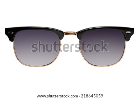 Old fashion browline sunglasses isolated on white background - stock photo