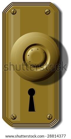 Old Fashion Doorknob - stock photo