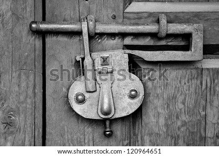 Old Fashion Lock - stock photo
