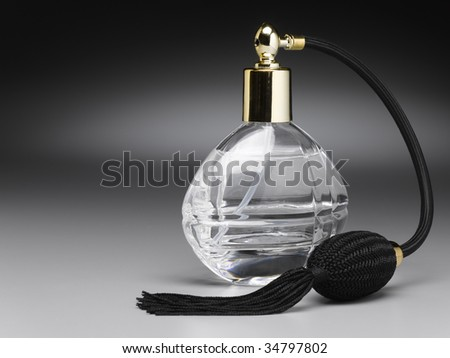 Old fashion perfume atomizer - stock photo