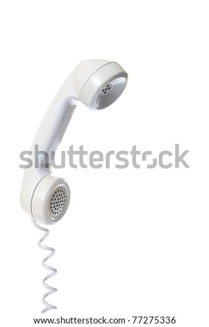 Old fashion phone isolated on white background - stock photo
