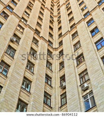 old fashion skyscraper - stock photo