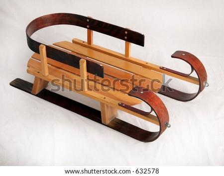 Old-fashion sled - stock photo