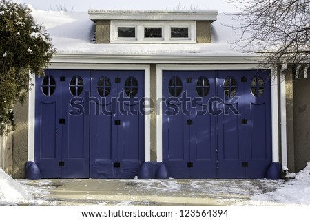 Old fashion two car wooden garage
