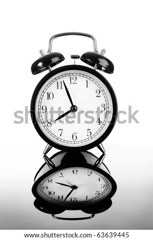 old-fashioned alarm clock - stock photo