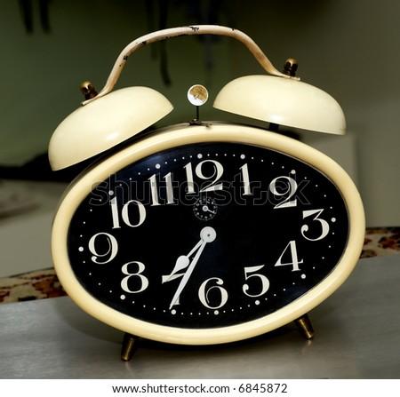 Old fashioned alarm clock - stock photo
