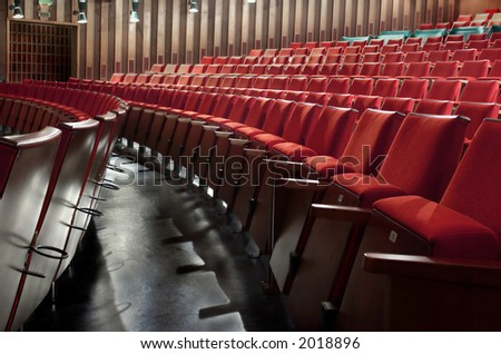 Old fashioned cinema - stock photo