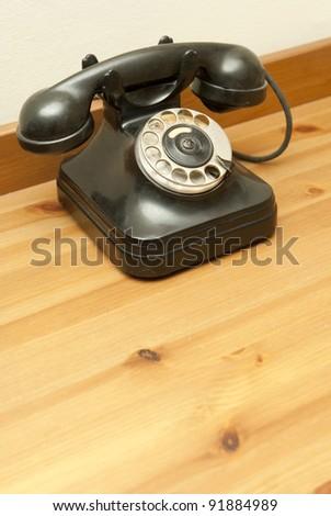 old-fashioned classic telephone - stock photo