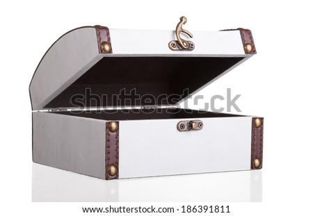 Old-fashioned decorative empty casket   - stock photo