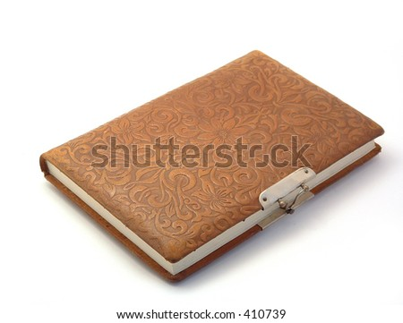 old fashioned diary - stock photo