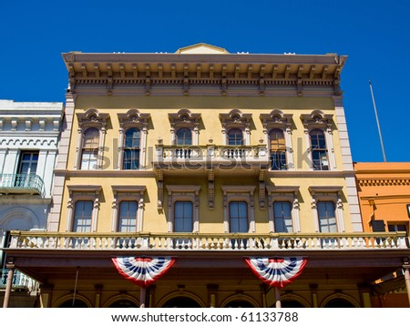 Old Fashioned Exterior of a Vintage Building - stock photo