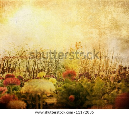 old-fashioned flower - stock photo