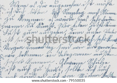 old-fashioned handwriting ink on paper - stock photo
