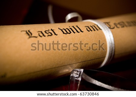 Old-fashioned paper with text of Last will