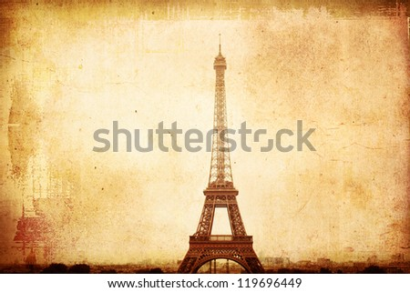 old-fashioned paris france -  with space for text or image - stock photo