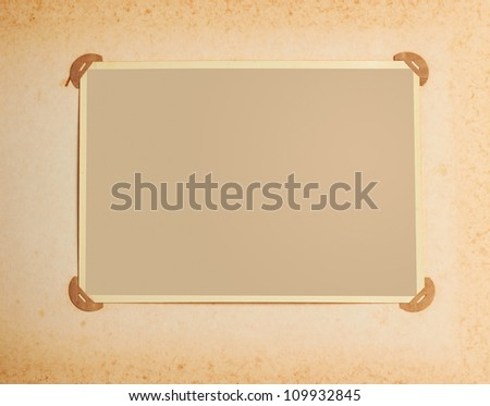 old-fashioned photo frame - stock photo