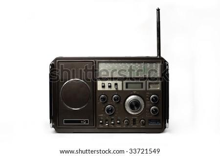 Old fashioned radio - stock photo