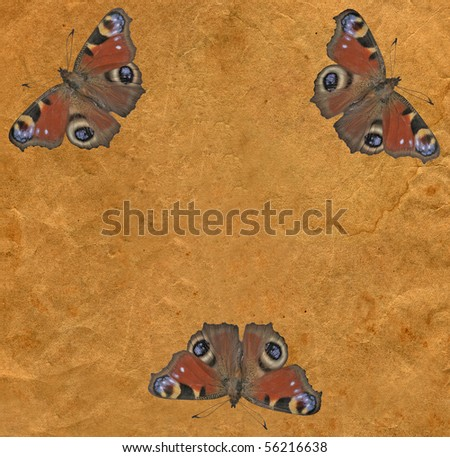 old-fashioned retro vintage brown paper, closeup texture background - stock photo