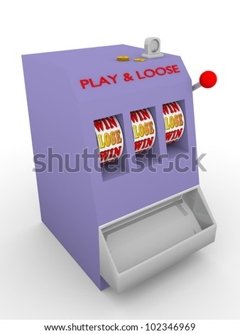 Old fashioned slot machine. Play and lose - stock photo
