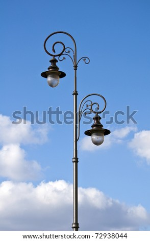 Old fashioned street lamp. - stock photo