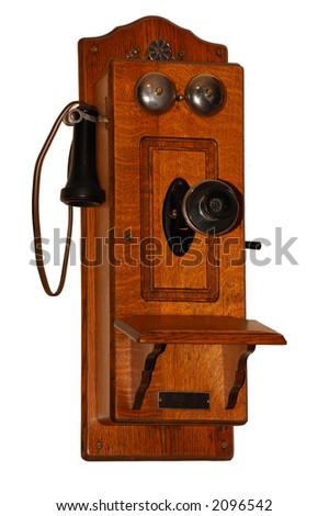 Old Fashioned Telephone - stock photo
