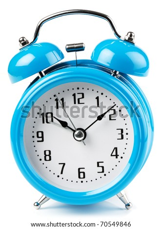 Old fashioned two bell alarm clock - stock photo