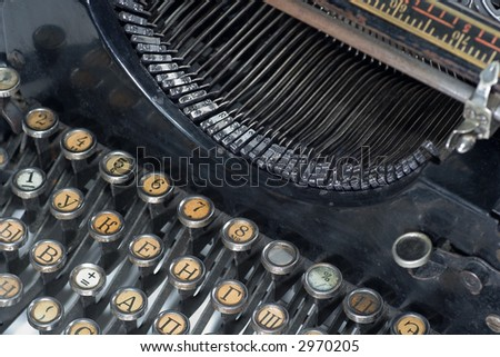 old fashioned, vintage typewriter - stock photo
