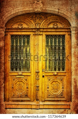 old-fashioned wooden door grunge textures and backgrounds