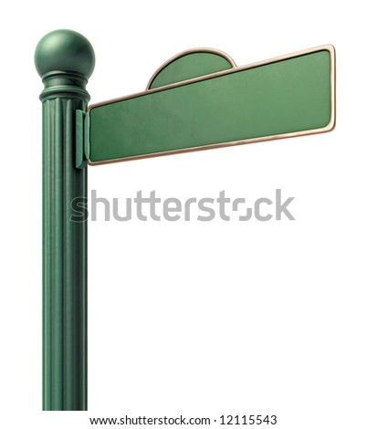 Old-Fashoned street sign over a white background - stock photo
