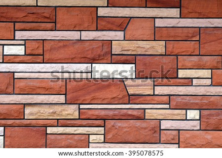 old faux brick  - stock photo
